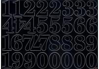 Cyfry samoprzylepne białe 2,8 cm