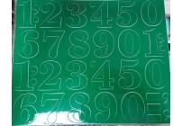Cyfry samoprzylepne NIEBIESKIE 4,5 cm