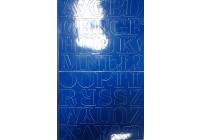 Litery samoprzylepne CZERWONE 4,5 cm