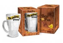 otwieracz z magnesem + szklanka do piwa 500ml