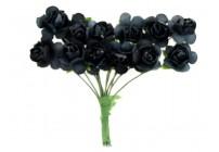 Papierowe róże 1,5cm/12 szt. -BORDOWE