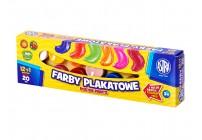 Farby szkolne akwarelowe12 KOLORÓW + pędelek