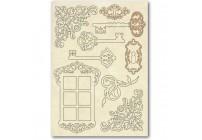 Drewniane dekory TRYBIKI A5 Stamperia