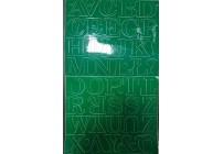 Litery samoprzylepne CZARNE 4,5 cm