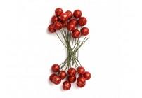 Owoce ostrokrzewu 1,2 cm - złote brokat, 24 szt.