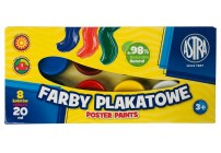 Farby plakatowe 20 ml 12 koloró +1 GRATIS ASTRA